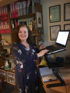 Sam Culshaw-Robinson at her standing desk